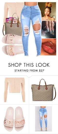 """-ANYTHING CONTEST-"" by bxtchslayy ❤ liked on Polyvore featuring Topshop, Gucci and Steve Madden"