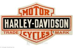 Vintage Harley-Davidson Bar & Shield Sign || http://www.retroplanet.com/