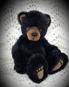 """Bernie""     15""    OOAK Long Long Ago Collectibles by Teddy Bear Artist Pat Youderin"