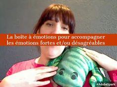 L'enfant pourra venir piocher des objets rassurants et calmants dans la boîte à émotions. L'objectif est d'accompagner l'expression des émotions de manière constructive et positive.