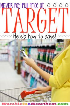 to Save Money at Target Learn all the ways to save at Target and you'll never pay full price again!Learn all the ways to save at Target and you'll never pay full price again! Ways To Save Money, Money Tips, Money Saving Tips, How To Make Money, Shopping Coupons, Shopping Hacks, Shopping Deals, Budgeting Money, Frugal Tips