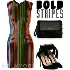 Bold Stripes Polyvore therache