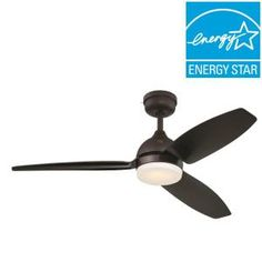 Home decorators collection windward iv 52 in integrated led indoor led indooroutdoor bronze ceiling fan with skyplug technology 20680 aloadofball Choice Image