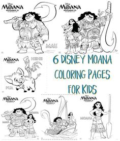 Your kids will love these 6 Disney Moana Coloring Pages for Kids. Even more, adults will love them, too! Don't they remind you have adult coloring pages! Farm Animal Coloring Pages, Paw Patrol Coloring Pages, Coloring Pages For Kids, Moana Coloring Pages, Mermaid Coloring Pages, 23 November, Printable Coloring Pages, Kids Playing, Are You Happy