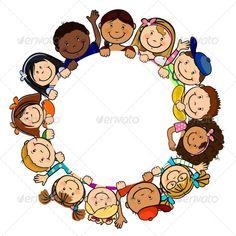 ◗ [Nulled]◛ Children In Circle White Background Baby Background Birthday Child Childhood Circle School Clipart, Borders And Frames, Classroom Decor, Coloring Pages, Crafts For Kids, Preschool, Childhood, Clip Art, Illustrations