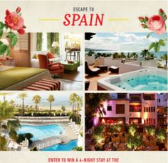 Win A 4 Night Trip to Spain