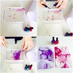 DIY Nailpolish Art for POSTERS! Diy Clothes Hanger Storage, Diy Clothes Closet, Diy Summer Clothes, Diy Clothes Projects, Diy Clothes Videos, Fun Projects, Paint Chip Wall, Diy Room Decor For Teens, Diy And Crafts