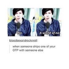 honestly, i ship phil and hazel(aka chewingsand) and when people give me shit for it i just go 'well fuck you too for not respecting my opinions and ships while i respect yours'