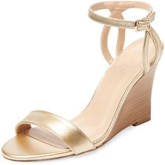 Firth Women's Two-Piece Wedge Sandal - Silver - Size 8 (51 AUD) ❤ liked on Polyvore featuring shoes, sandals, silver, ankle tie wedge sandals, ankle wrap sandals, silver wedge sandals, ankle strap platform sandals and silver sandals