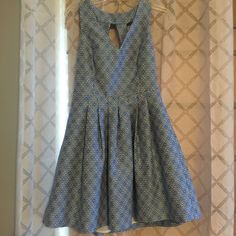 Cute Dress Lined With Zippered Back