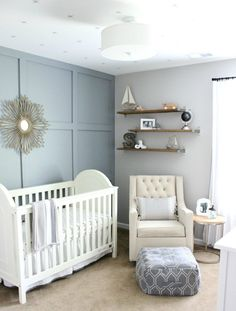 Neutral Hamptons Inspired Nursery - Lynzy & Co. // Gender Neutral Nursery Inspiration