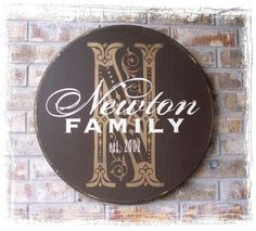 Personalized Established Family Name Sign  by RumpelstreetBoutique, $95.00