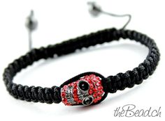 RED SKULL BRACELET  by theBead.ch
