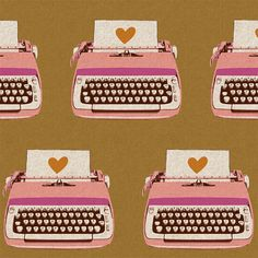 Melody Miller Ruby's Rising Shining Typewriter in by swellcloth, $10.00