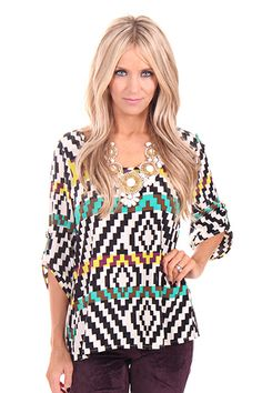 Lime Lush Boutique - Half Sleeve Scoop Neck Top with Various Pattern Print , $48.99 (http://www.limelush.com/half-sleeve-scoop-neck-top-with-various-pattern-print/)