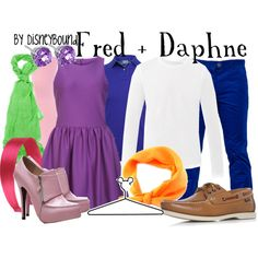 """Fred + Daphne"" by lalakay on Polyvore - costume party idea"