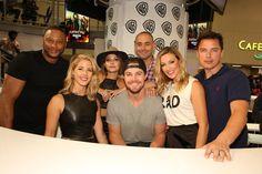 The cast of #Arrow #CWSDCC