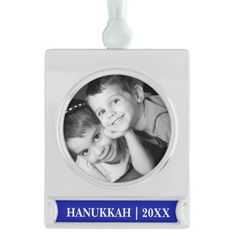 Happy Hanukkah. Custom Photo Hanukkah Ornaments