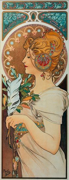 I pin Mucha all the time, but never can get enough, especially of this picture. Loved it since I was a little.: