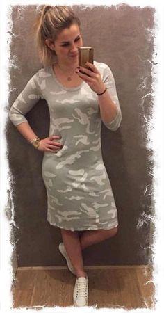 #knhus_lifestyle Nieuwe collectie van Transfer binnen waaronder dit gave camouflage stretch jurkje.  #knhuslifestyle #haverstraatpassage #enschede #camouflage