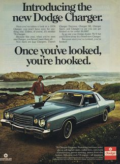 "tom selleck in an ad for dodge which says ""you won't have eyes for anything else"" ... sorry, dodge, I only have eyes for the man standing by the car"