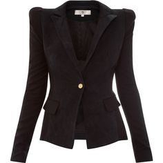 Sophie Hermann Black Suede Jacket ($1,290) ❤ liked on Polyvore