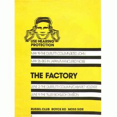From a poster for the Factory nightclub, 1978