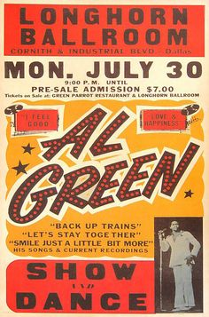 Al Green - Show and Dance  *** I would have loved to seen this. ***