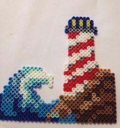 Perler Bead Lighthouse by ForeverJessi