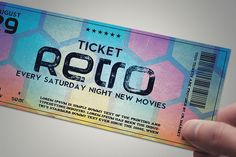 Check out Stylish retro ticket by Tzochko on Creative Market