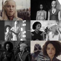 Daenerys and missandei Deanerys Targaryen, Movie Spoiler, Game Of Trones, Winter Is Here, Mother Of Dragons, Valar Morghulis, Housekeeping, Jon Snow, Movie Tv