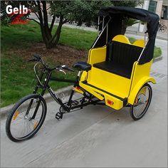 Rikscha verkaufen gelb 21-Speed Grip-Shifting 300kg Zuladung Rikscha kaufen FT-8002 Gelb