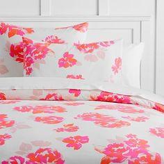 The Emily & Meritt Neon Rose Duvet Cover   Sham #pbteen