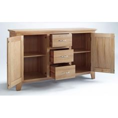The Sherwood Oak range is made of a high quality grade of oak and exhibits all the hallmarks of quality furniture.These include wood-panelled drawer bases and cabinet backs and the use of dovetailed joints in constructing drawers. Large Sideboard, Oak Sideboard, Selling Furniture, Quality Furniture, Dinning Table, Filing Cabinet, Bedroom Furniture, Drawers, Doors