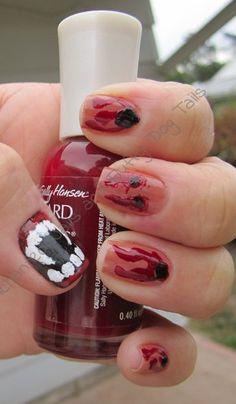 Beauty Minions V3: Vampire bite nails