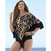 Beach To Beach Poncho - Large Size Clothing - www.plussizedglamour.co.uk