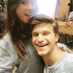Troian Bellisario and Keegan Allen