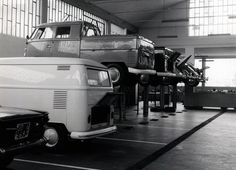 View of our historical Volkswagen garage in San Daniele del Friuli, Italy, early 60s