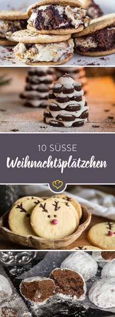 From the cookie jar: 10 cookies for the Christmas plate- Aus der Keksdose: 10 Plätzchen für den Weihnachtsteller When it smells of gingerbread, cinnamon and caramel, the coziest time of the year prevails. Savor them – best with these 10 cookie recipes. Christmas Dishes, Christmas Baking, Christmas Ideas, Cupcakes, German Baking, Biscuits, Winter Desserts, Xmas Cookies, Xmas Food