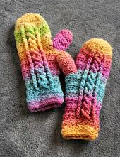 Ravelry: Chilly Cables Mittens pattern by Sonya Blackstone