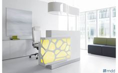 ORGANIC cubic form filled with organic shapes. The new reception desk by MDD takes its design straight from nature to provide a bit of relaxation in today's stressful world #sohomod