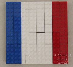 A Moment in Our World: France Study- Lego flag, Lego Eiffel Tower, Paper Paris, Tour de France pipe cleaner bicycle.