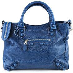 Balenciaga bags BLUE ($1,960) ❤ liked on Polyvore