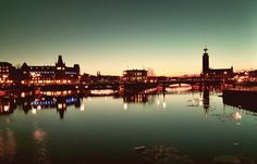 Stockholm at night as seen by my phone..
