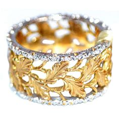 Mario Buccellati  18K yellow and white gold Ring www.finditforweddings.com