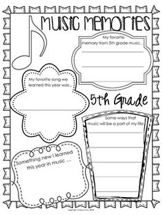 MUSIC MEMORIES {EDITABLE READY SET PRINT!} - TeachersPayTeachers.com