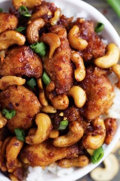 An amazing slow cooker meal that is way better than takeout!  The chicken is breaded to perfection and the sauce is full of flavor!  The cashews hidden throughout are the best part!