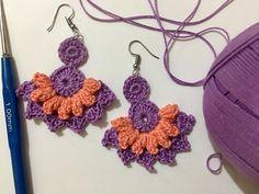 Crochet Ideas, Free Crochet, Bobbin Lace Patterns, Earring Tutorial, Leaf Flowers, Fashion Earrings, Crochet Earrings, Projects To Try, Crafty