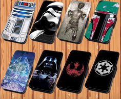Star Wars For Faux Leather Flip iPhone & Samsung Galaxy Case Cover D12 #NONGCHAO