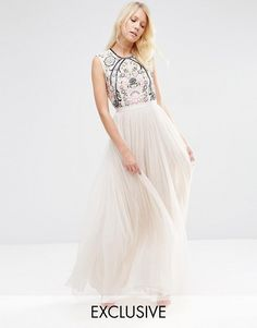 Needle & Thread - Robe longue en dentelle brodée. Prom Maxi DressesLace  DressesWedding DressesFancy Maxi DressDress ...